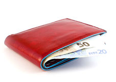 Red wallet Stock Photography