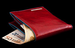 Red wallet Royalty Free Stock Image