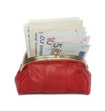 Red wallet. Stock Image