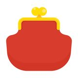 Red wallet icon Royalty Free Stock Photo
