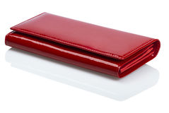 Red wallet. Wallet on a white background Royalty Free Stock Photography