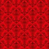 Red Wallpaper Pattern Stock Photo