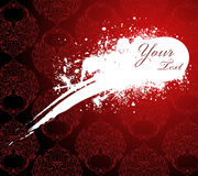 Red wallpaper with white stain royalty free illustration