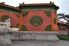 Decoration in Forbidden City in Beijing, China. stock photos