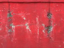 Red walls have cracks. royalty free stock photography