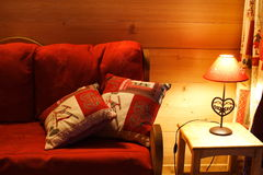 Red warm interior Royalty Free Stock Photography