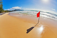 Red warning flag Stock Images