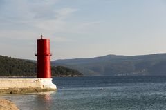 Red warning sea light Stock Photography