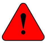 Red warning sign Royalty Free Stock Photography