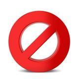 Red warning sign Royalty Free Stock Photos