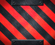 Red Warning Stripes Metal Background Royalty Free Stock Images