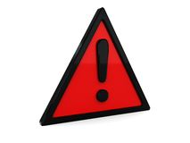 Red warning symbol Royalty Free Stock Photos