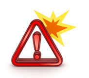 Red warning symbol. Royalty Free Stock Image