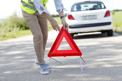Red warning triangle Stock Photos