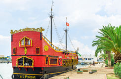 The red warship in Sousse Royalty Free Stock Photography