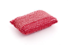 Red Washing Sponge Royalty Free Stock Photo