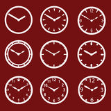 Red watch dials eps10. Icons Stock Illustration