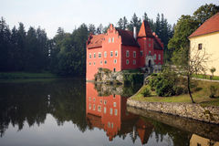 The red water chateau Royalty Free Stock Photo