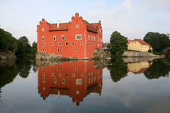 The red water chateau Royalty Free Stock Images