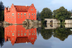 The red water chateau Stock Photography