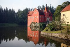 The red water chateau  Cervena Lhota Royalty Free Stock Images