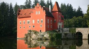 The red water chateau  Cervena Lhota Stock Images