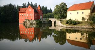 The red water chateau, Cervena Lhota Royalty Free Stock Images