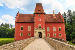 Red water chateau Cervena Lhota in Southern Bohemia Stock Photography