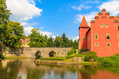 Red water chateau Cervena Lhota in Southern Bohemia Stock Image