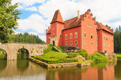 Red water chateau Cervena Lhota in Southern Bohemia Royalty Free Stock Images
