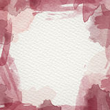 Red Water Color Frame. Frame from  watercolor stains on white paper Stock Images