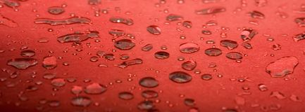 Red Water Droplets Stock Images