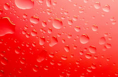 Red water drops stock photo