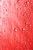 Red water drops. For background Royalty Free Stock Photo