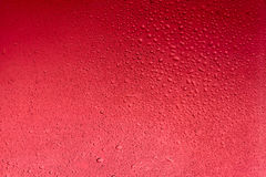Red water drops abstract background. Wet texture Royalty Free Stock Photography