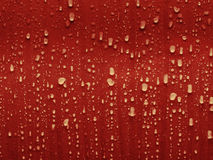 Red water. Drops and droplets of red water Royalty Free Stock Image