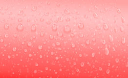 Red water drops Stock Image