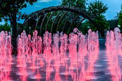 Red water fountain  Stock Images