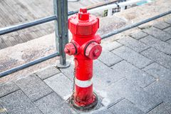 Red water hydrant royalty free stock photos