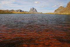 Red water lake at Anayet plateau Stock Photography