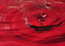 Red Water Splash Royalty Free Stock Photo