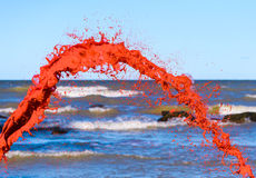 Red water splash stock photos