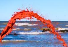 Red water splash Stock Photos