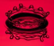 Red water splashing Royalty Free Stock Image