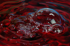 Red water. Surface of red water as texture background Stock Image