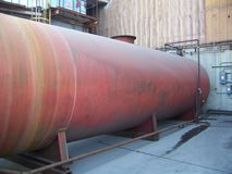 Red Water Tank Stock Image