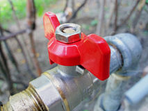 Red Water tap Royalty Free Stock Photo