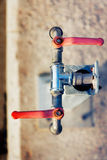 Red Water Valves Royalty Free Stock Photo