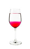 Red water in wine glass Stock Photography