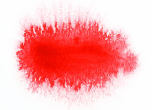 Red watercolor abstract Stock Photo